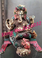 The Qing Dynasty stone Inlaid Turquoise elephant coppler ornaments