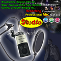 Professional Studio Recording Condenser Microphone Set For Computer Broadcasting School Home Party Karaoke Meeting Mic Microfone