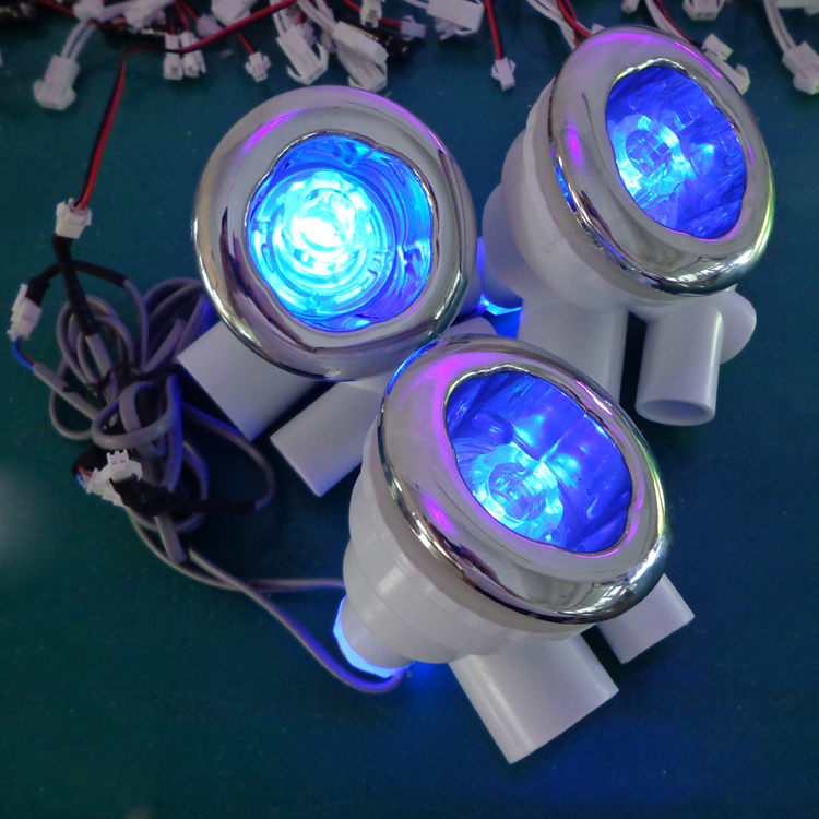 4pcs build in ABS water proof RGB colorful underwater led spa light water jets lamp without