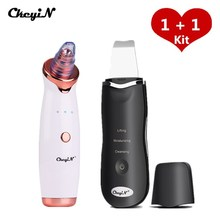 Microdermabrasion Vacuum Suction Blackhead Remover Facial Acne Removal Tools + Ultrasonic Skin Pore Cleaner Skin Care Machine 46