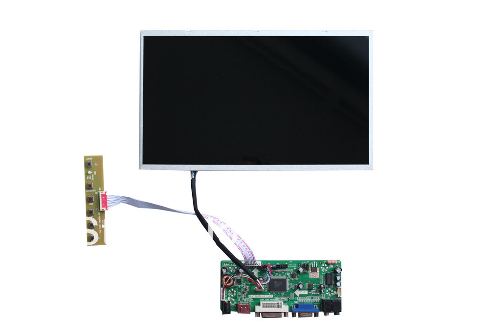 HDMI + DVI +VGA+ Audio of LCD main board+B116XW02 V0 +LVDS cable +OSD keypad with cable