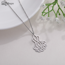 My Shape 2019 High Quality Multiple Crystal Pendant Stainless Steel Fashion Necklace Personalized Collares