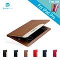 Automático de lujo para despertar del sueño de cuero elegante de la cubierta case para ipad pro 9.7/12.9 pulgadas con lápiz óptico como regalo