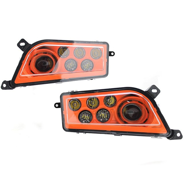 US $114 3 10% OFF|14 17 POLARIS RZR XP 1000 & TURBO SPECTRA ORANGE LED  HEADLIGHTS KIT Left + Right Led Headlight-in Car Light Assembly from
