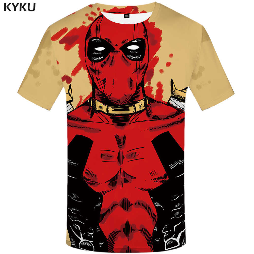 da892262 Detail Feedback Questions about KYKU Deadpool T Shirt Men Blood Badass T shirt  United States Printed Tshirt 3d Anime Clothes Funny Vintage Mens Clothing  ...