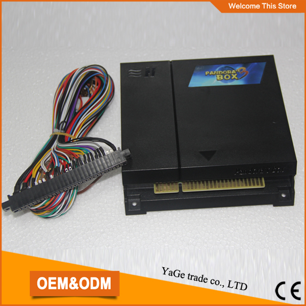 Arcade parts Bundles kit :520 IN 1 multi game PCB with JAMMA harness arcade parts bundles kit with 645 in 1 pandora s box 4 joystick microswitches chrome illuminated buttons for arcade game machine