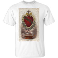 99f359ff3f1 The Sacred Heart of Jesus Christian T Shirt sizes S-5XL Sky Blue White Short