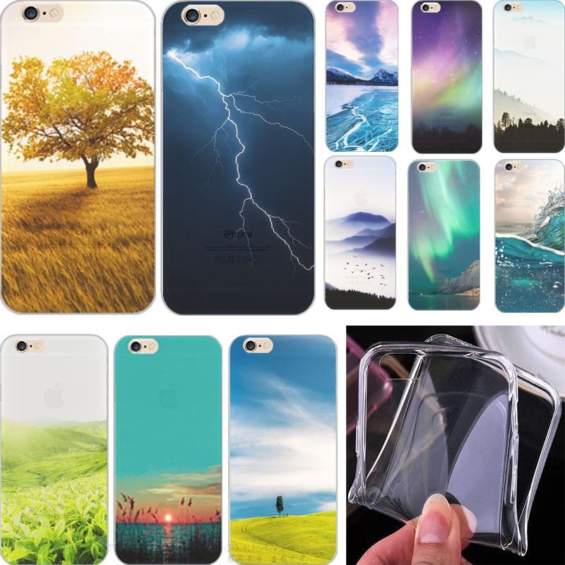 Для iPhone5 SE Новое поступление живопись пастбища ТПУ чехол для Apple IPhone 5 5S Чехол чехол для phone5S телефон В виде ракушки Best