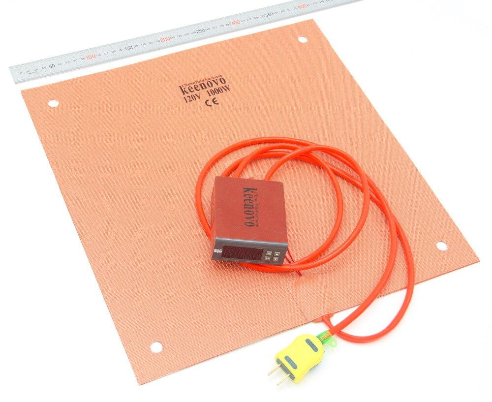Calentador del silicón de keenovo (400mm x 400mm 1000 W) creality CR-10 S4 3D impresora almohadilla + controlador digital