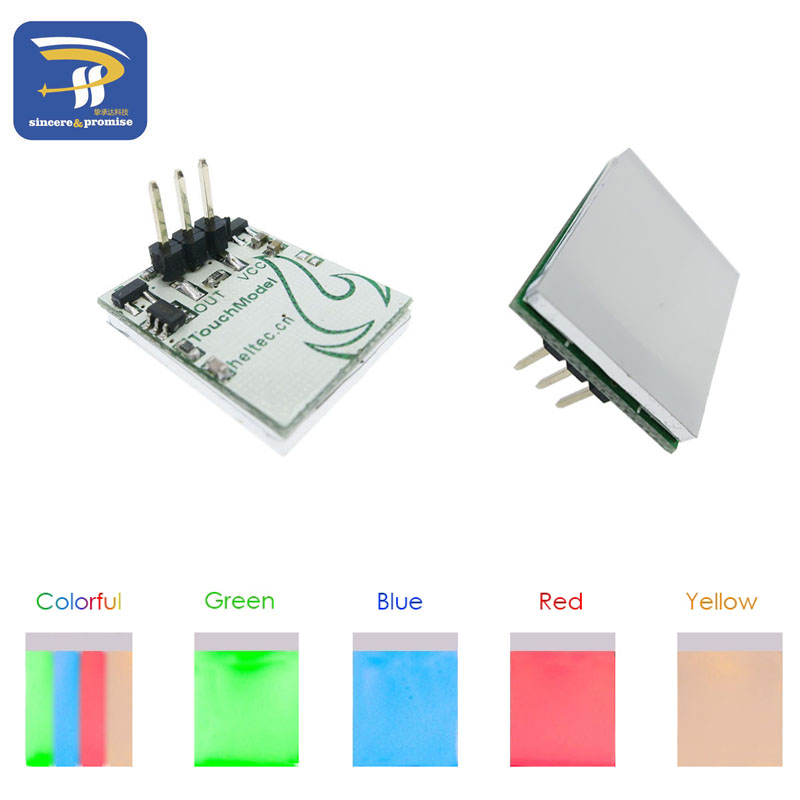 Diodes Inventive Blue Red Green Yellow Colorful Color Capacitive Touch Switch Button Module 2.7v To 6v Module Anti-jamming Is Strong Httm Series