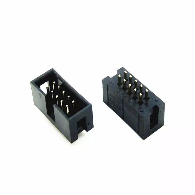 10 aiguille DC3-10 p 2.54 Simple corne JTAG fai interface connecteur prise