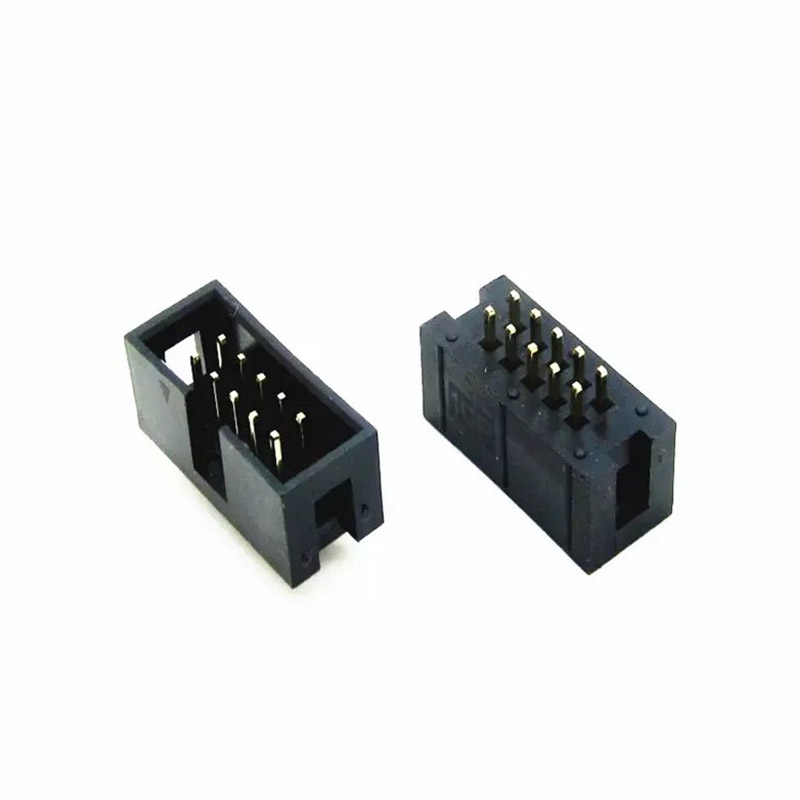 10 needle DC3-10 p 2.54 Simple horn JTAG ISP interface connector socket 100pcs box zhongyan taihe acupuncture needle disposable needle beauty massage needle with tube
