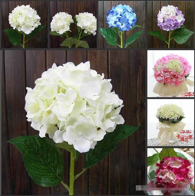 Elegant Hydrangea Artificial Silk Flower Wedding Centerpieces ...