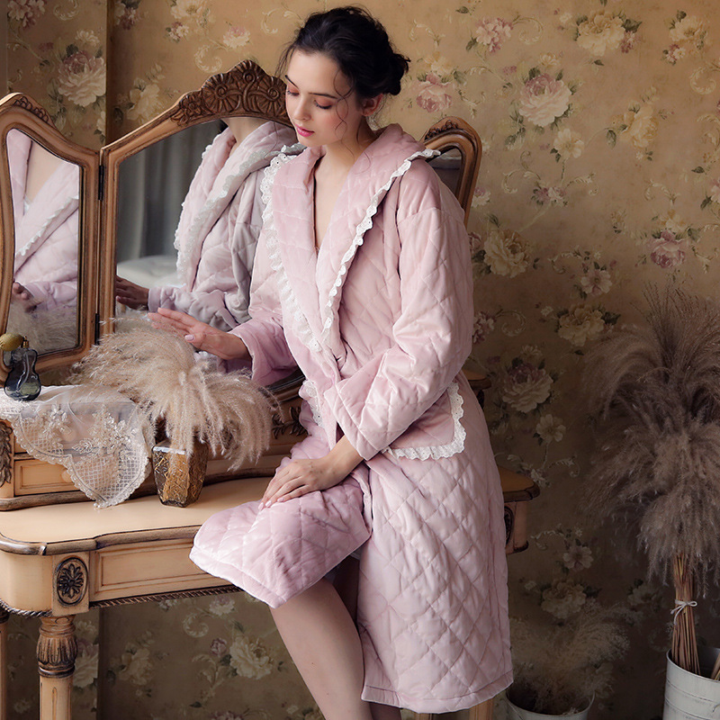 Pregnant Women Sleepwear Robe Thick Warm Winter Shower Spa Robe Bath Bathrobe Sleep Nightgown Robe Gown Maternity Pajamas CA538 цена 2017