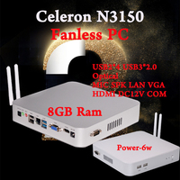 Mini PC Braswell 14NM CPU N3150 Quad Core 6W Low Power Fanless Windows 7 8 HTPC