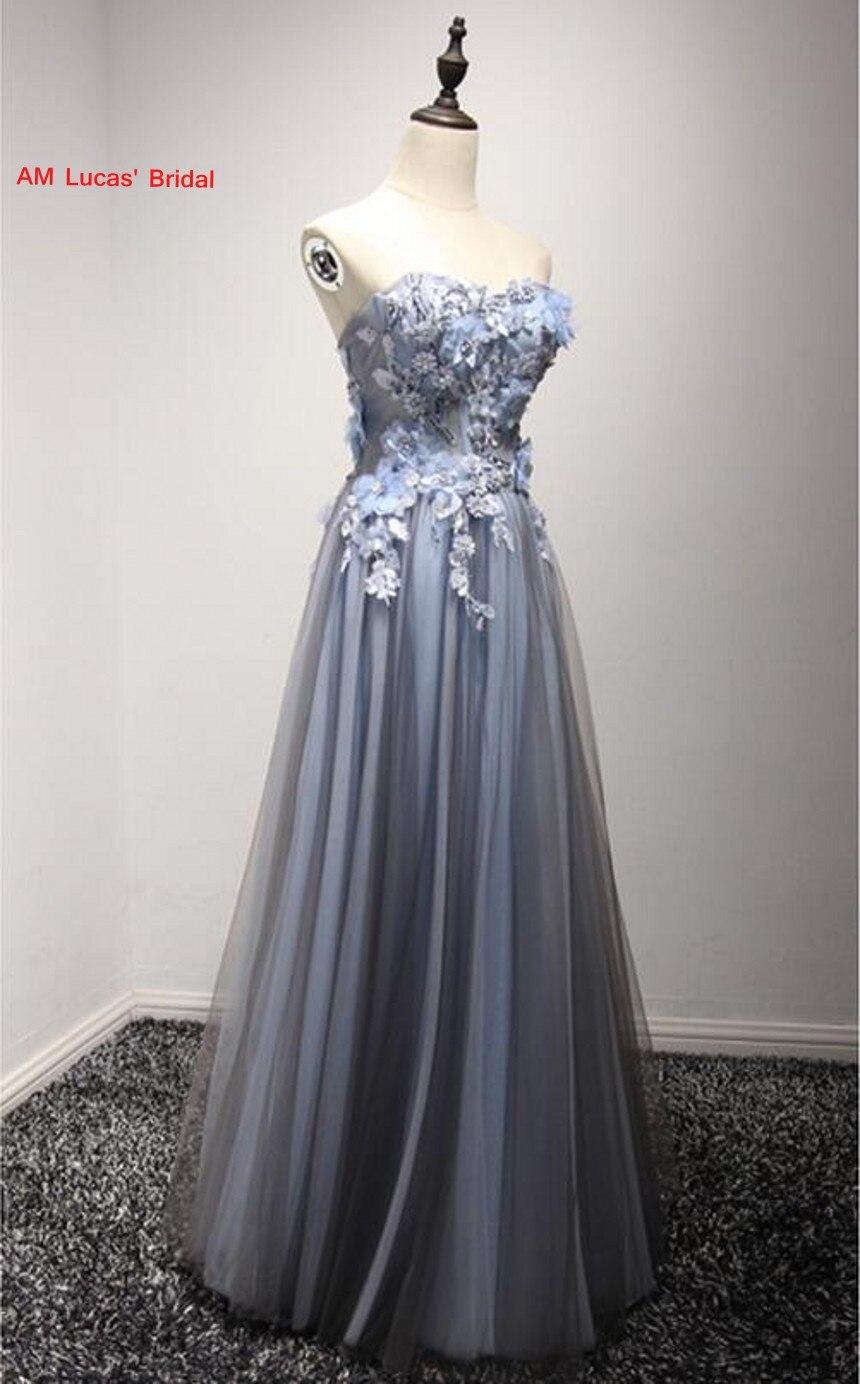 Lange Abendkleider Formale Kleider Für Hochzeit Kleid 3D Blumen Auf ...
