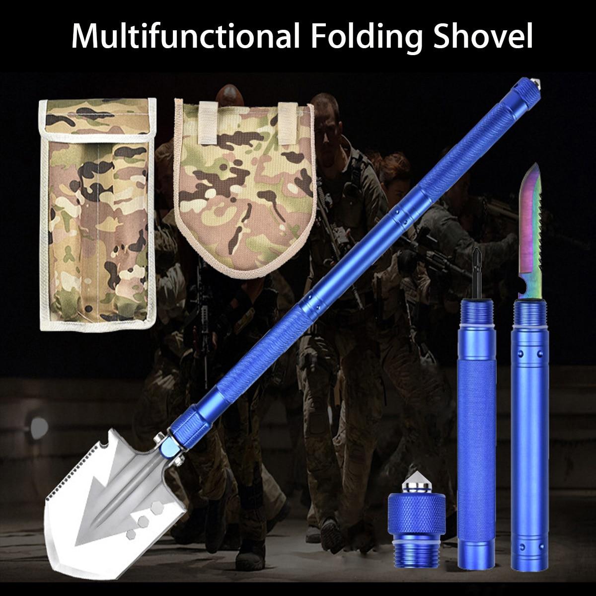 Doersupp multifonctionnel Portable pliant pelle militaire tactique pique Camping en plein air jardin outils outil de survie ensemble