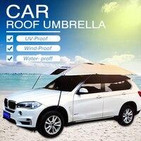 Автомобильный открытый зонт для крыши Зонт зимние Дорожный Чехол крыши полуавтоматическая автомобиля Зонт Чехлы солнце Защитная палатка