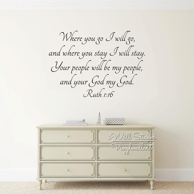 Love Quotes Wall Art Decal Bible Lettering Quote Wall Stickers Bible