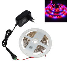 1/2/3/4/5m LED phyto Grow Light LED tape for plants with 2A Power Adapter Indoor grow tent Garden light Flowers Hydroponic lamp цены онлайн