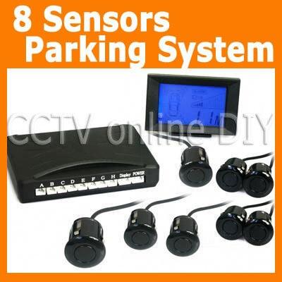 ФОТО Newest 8pcs Reversing Sensors Car Parking Radar System Kit Free Shipping