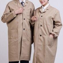 Летнее белое лабораторное пальто медицинская лаборатория унисекс склад доктор рабочая одежда Больница униформа техника одежда с длинным рукавом