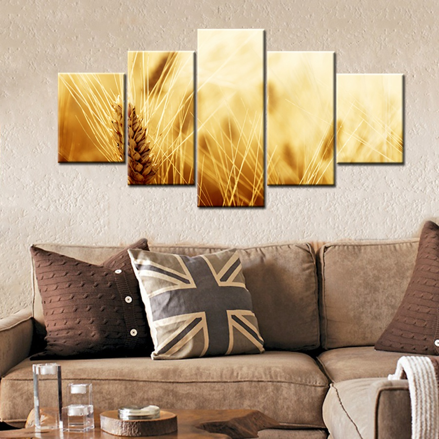 Attractive Charming Ripe Wheat Green Wheat Painting Print Canvas Modular Wall Art Home  Decor Artwork For Room Decoration Fashion Gift In Painting U0026 Calligraphy  From ...