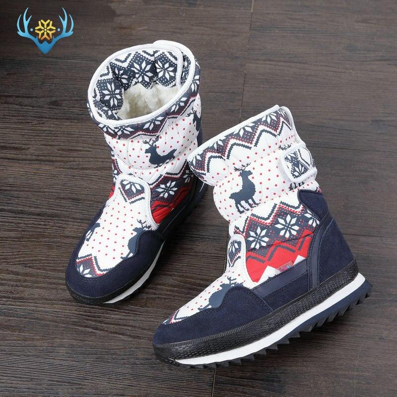 Зимние сапоги для девочек детские зимние ботинки детская новая дизайнерская Рождественская обувь теплая натуральная шерсть мех внутри нескользящая подошва Бесплатная доставка