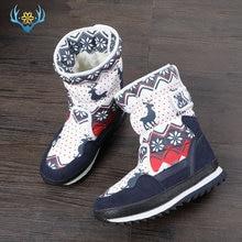 الفتيات الشتاء أحذية الأطفال حذاء الثلوج الاطفال تصميم جديد عيد الميلاد الأحذية الدافئة الفراء الصوف الطبيعي داخل عدم الانزلاق وحيد شحن مجاني