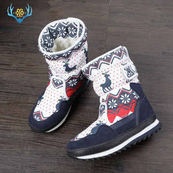 Girls Winter Boots Children snow boot kids new design Christmas shoes warm natural wool fur inside Non-slip sole  free shipping - DISCOUNT ITEM  30% OFF All Category