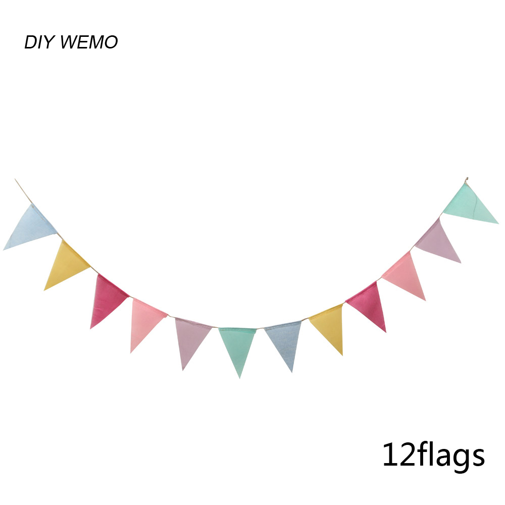 colour imitation linen jute triangle flag party decoration banner bunting for wedding event baby. Black Bedroom Furniture Sets. Home Design Ideas