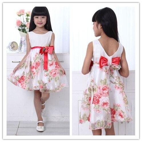 404c253a30c2ff R$ 248.08 |100% vestido de algodão meninas festa de verão crianças princesa  tanque menina vestido de verão 2 9 ano em Vestidos de Mãe & Kids no ...