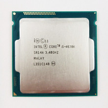 Processeur Intel Core i5 4670K 3.4GHz 6 mo Socket LGA1150 Quad-Core CPU SR14A(China)