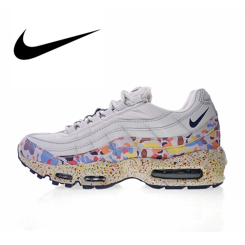 Original authentique Nike WMNS Air Max 95 SE chaussures de course pour femmes Sport baskets de plein Air Designer 2018 nouveauté 918413-004