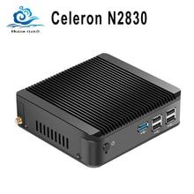 Настраиваемые Мини-ПК компьютер Intel Celeron N2830 двухъядерный Окна 10/8/7 Linux мини Computador Desktop Wi-Fi HDMI HD ТВ коробка