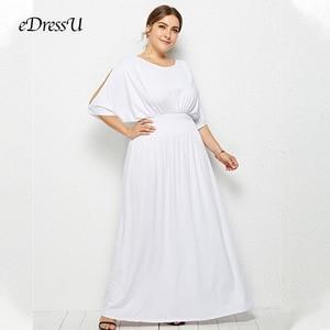 Image 3 - 2020 heiße Plus Größe Batwing Ärmeln Elastische Abend Party Kleid Vestido Robe de Soiree Hochzeit Gast Kleid eDressU LMT FP3110
