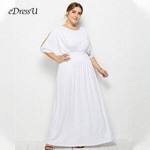 Image 3 - 2020 quente plus size batwing mangas elástico vestido de festa à noite vestido robe de soiree casamento vestido convidado edressu LMT FP3110
