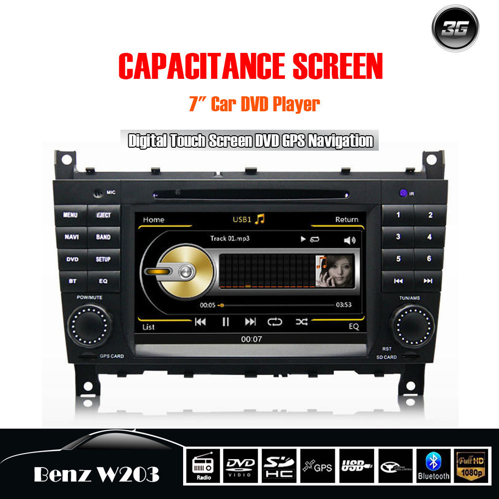 car autoradio dvd player radio gps navigation for mercedes benz c class clk w203 c230 c240 c280. Black Bedroom Furniture Sets. Home Design Ideas