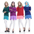 Мусульманский абая рубашка платье Исламская турецкий дубай кафтан Исламская одежда Мусульманская абая Платье турецкий джилбаба хиджаб 33124