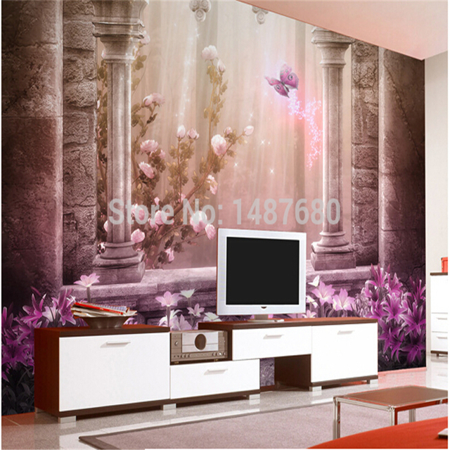 Beibehang römischen antike türen 3d wandbilder wohnzimmer eingang ...