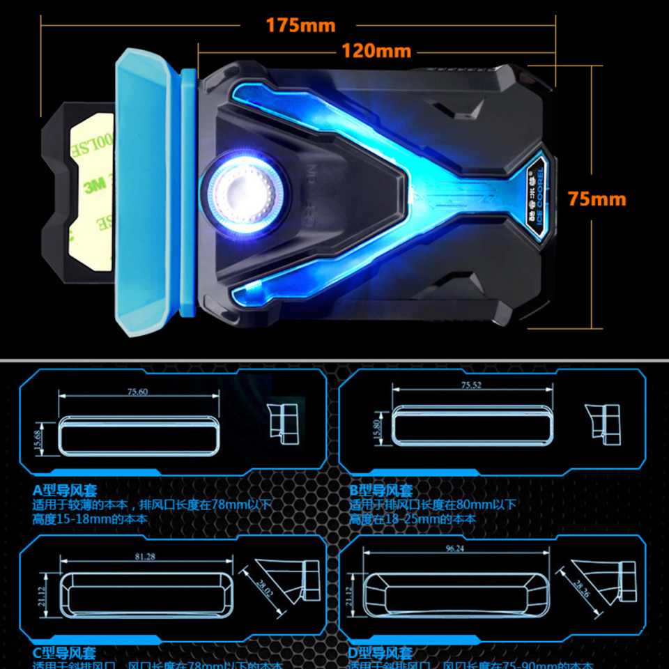 Image 5 - Hot Laptop Cooler Exhaust Processor cooling Fan USB Air Cooler Heatsink Radiator Extractor CPU Cooler for Notebook Laptop Gadget-in Laptop Cooling Pads from Computer & Office