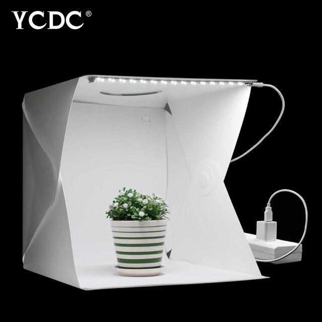40Cm Gấp Di Động Lightbox Chụp Ảnh Studio Softbox Đèn LED Hộp Mềm Lều Bộ Cho Điện Thoại Máy Ảnh DSLR Hình Nền