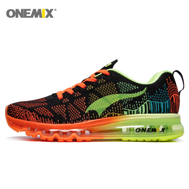Onemix Music Rhythm Men Sports Shose Running Sneakers Breathable Mesh Outdoor Sports shoes Light Women Sport Shoes Size39-46