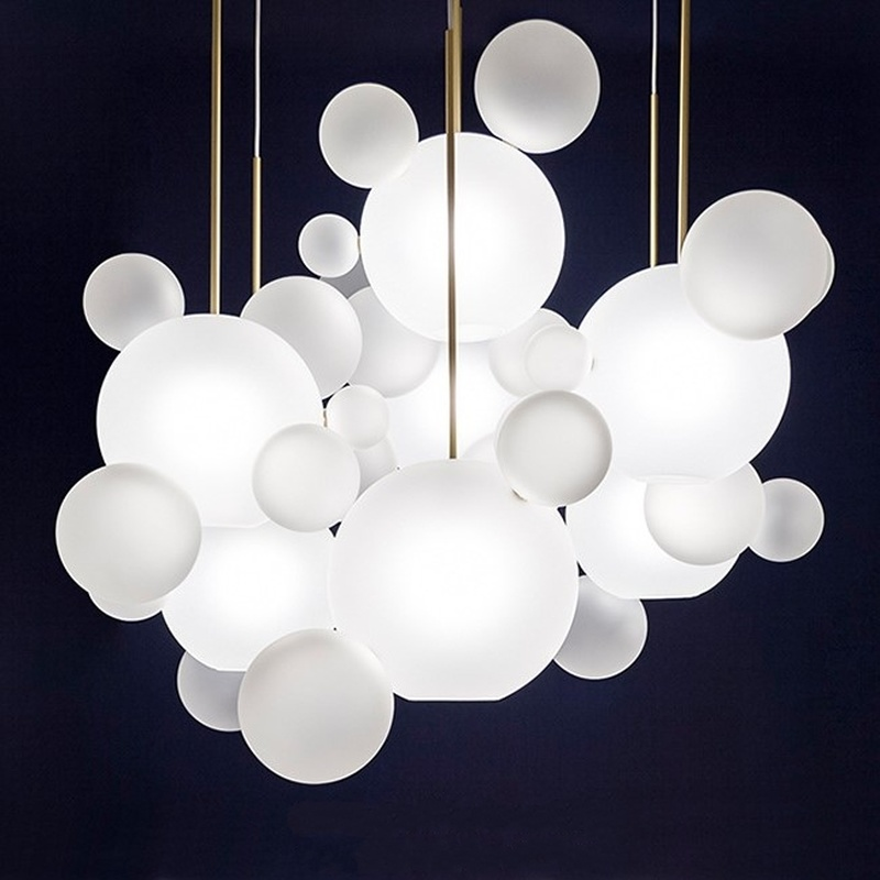 New classical creative pendant lights foyer frosted milky white glass ball bubble droplight hotel restaurant lightNew classical creative pendant lights foyer frosted milky white glass ball bubble droplight hotel restaurant light