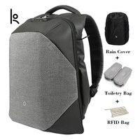 Kingsons нажмите вырезать твердые Рюкзаки научный системы хранения сумки внешний зарядка через usb ноутбук рюкзак для мужчин и женщи