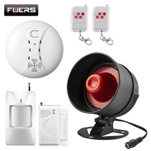 Fuers Wireless Siren Alarm System Kits Loudspeaker Warning Motion Indoor Siren Home Security Protection System For House Garage designing early warning system