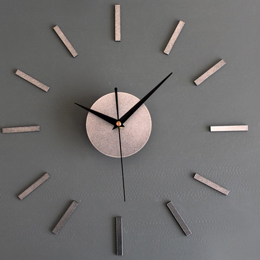 online get cheap creative wall clock design aliexpresscom  - fancy noble metal tone wall clock d diy creative modern design clocksimple atmospheric meeting room