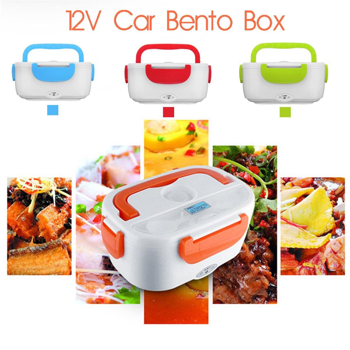 12 v-24 v Auto Portatile Lunch Box Riscaldamento Elettrico Riscaldato Multi-funzionale Bento Cibo Riso Contenitore Più Caldo per i Viaggi in Automobile