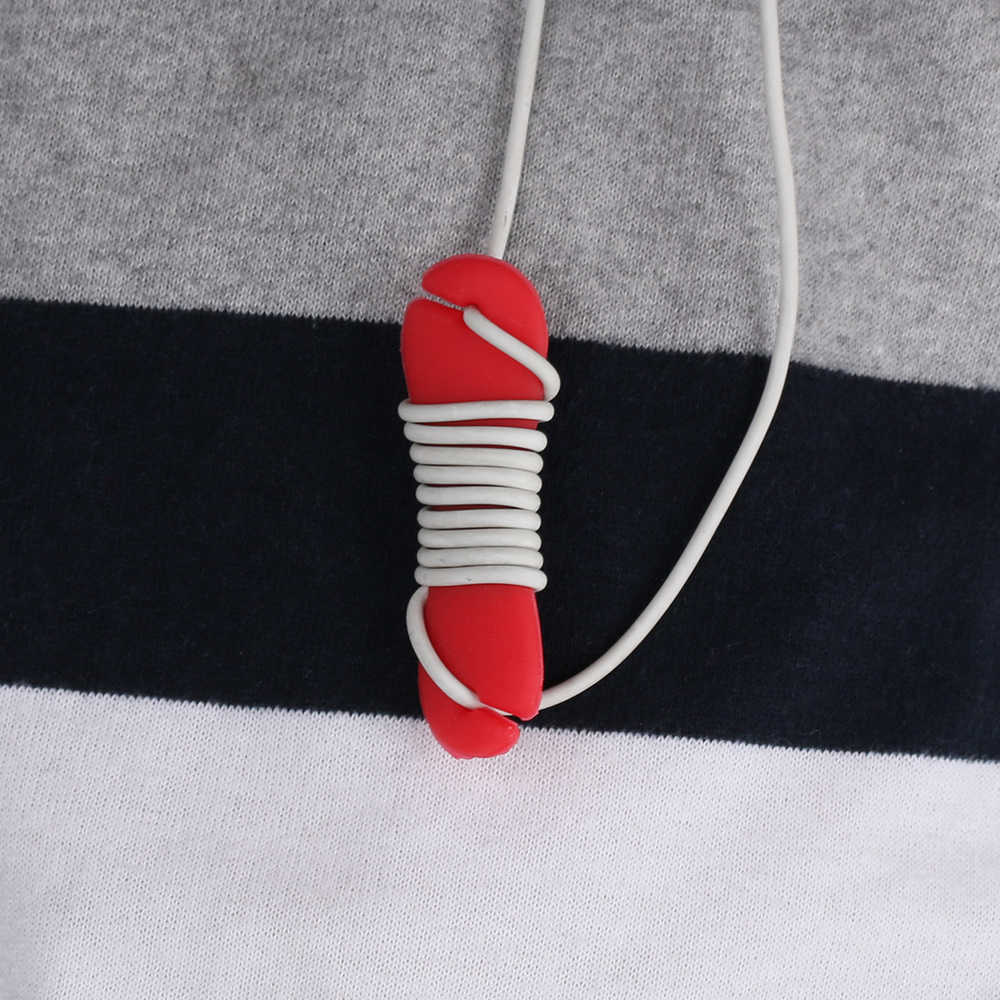 1 sztuk losowy kolor w kształcie kości Organizer do kabli przewód gumowy Winder uchwyt na kabel słuchawki słuchawki organizator uchwyt na drut