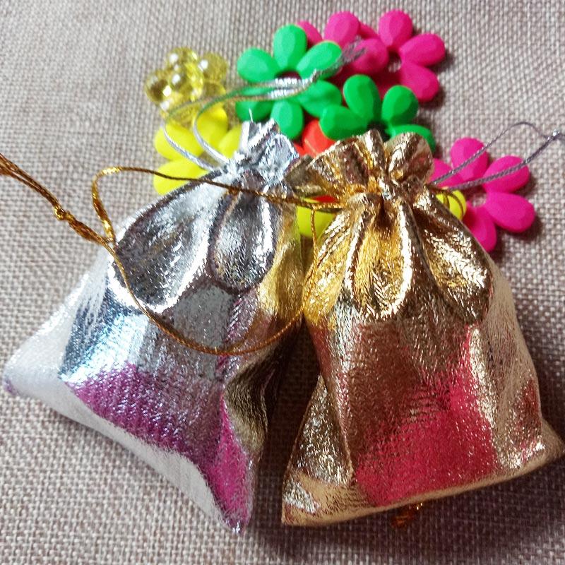 1000 stücke 7x9 cm Gold Silber Kordelzug verpackung Display Taschen Metallfolie organza beutel Weihnachten Hochzeit geschenk taschen-in Schmuck-Verpackung & Präsentation aus Schmuck und Accessoires bei  Gruppe 1